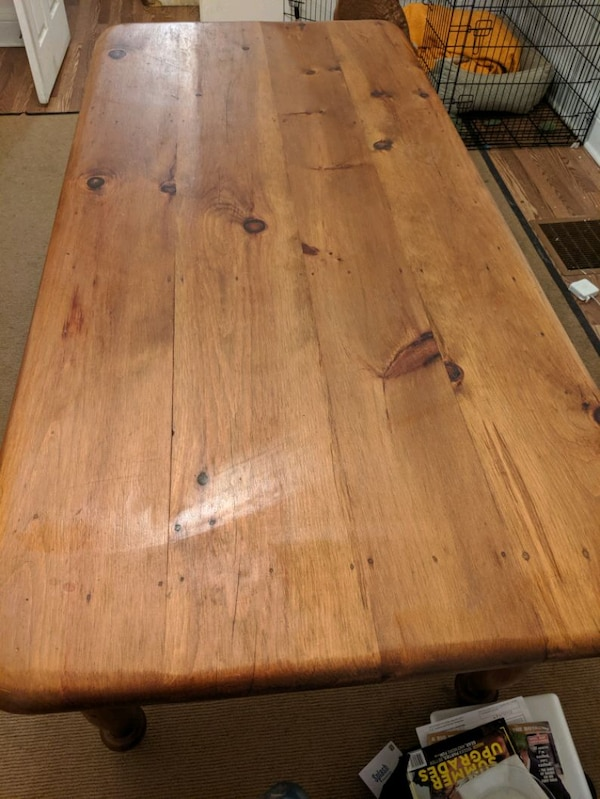 Large wooden hand crafted table  334562c0-44e2-4cea-8de2-42896b7d8437