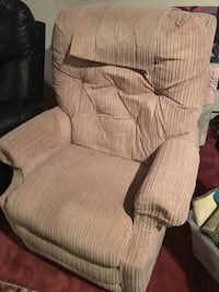 Khaki fabric padded recliner Raleigh, 27604