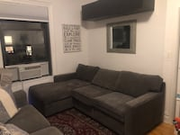 Grey sectional chaise sofa