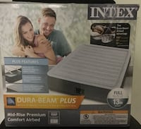 """Intex Full comfort-plush mid-rise Air bed with built in pump size """"Double"""" 13"""" high  Markham, L3P 3C9"""