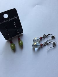 pair of green and silver earrings Montréal, H3W