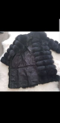 Real fox fur coat