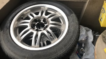 "Selling four ""Hankook"" summer tires with rims"
