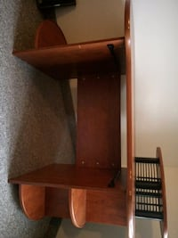 brown wooden desk with hutch Waterloo, N2L 6H9