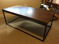 Walnut finish black frame coffee table. Brand new   Calgary, T2M