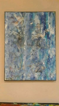 blue and green abstract painting Toronto, M8V 1R3