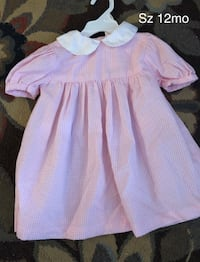Adorable pink gingham dress 12mo South Elgin, 60177
