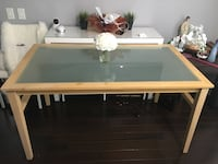 Beautiful glass and wood dining table  Toronto, M6S