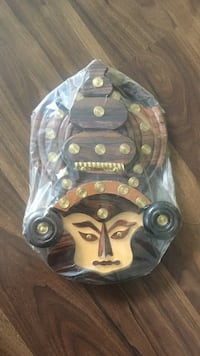 Brown and beige wooden Indian (Kerala) wall decor Toronto, M2N 2W7