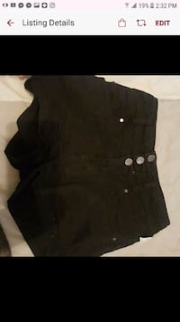 black highwaisted shorts small Corpus Christi, 78411