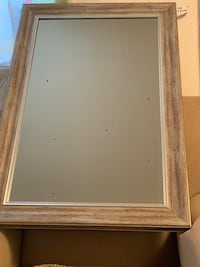 rectangular brown wooden framed mirror New York, 11434