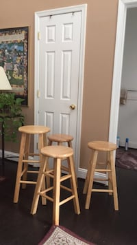 two white wooden bar stools Frederick, 21701