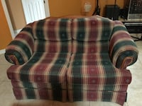 red green and tan plaid loveseat Apopka, 32703