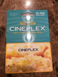 Cineplex 125.00 gift card for 100