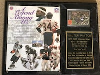 Walter Payton plaque with signed football card Laurel, 20707