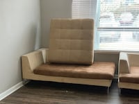 brown and white fabric sofa Union City, 30349