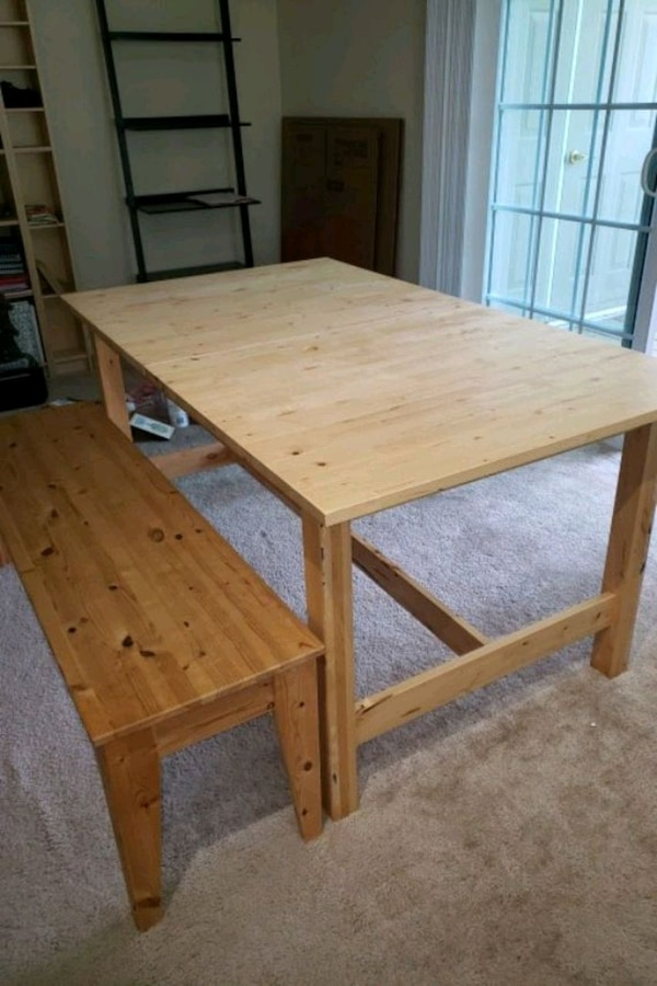 Ikea Norden Dining Table With Wooden Bench