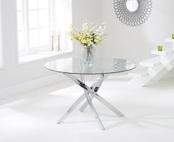 Ibiza Structube Round Glass Dining Table