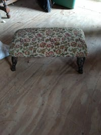 Antique footstool with rod iron feet Gloucester County, 23072