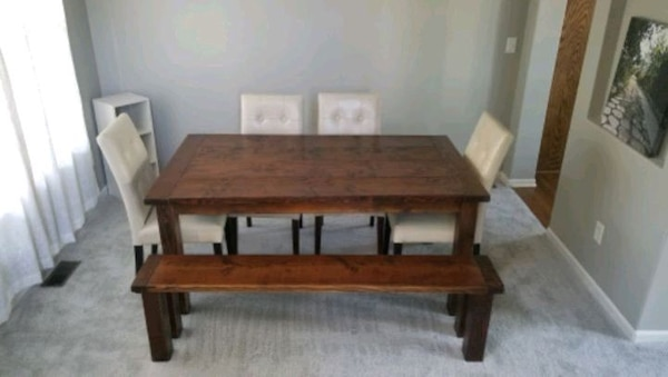 Modern rustic farmhouse dining room table