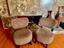 Modern animal print accent chairs