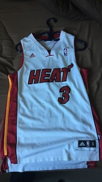 White and red miami heat 3 basketball jersey shirt ( Dwayne Wade ) small Guelph, N1E 7C5