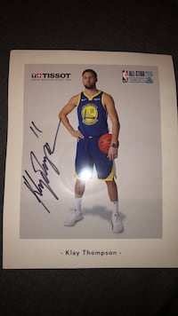 Klay Thompson autograph from NBA All Star Weekend  Toronto, M5V