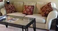 Couch – cream color fabric. Long POWELL