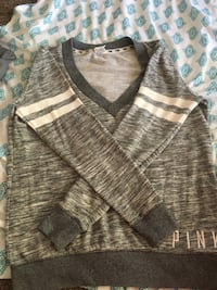 brown and gray V-neck shirt Lincoln Park, 48146