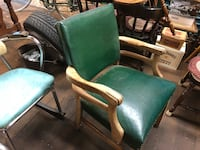 green and brown wooden armchair Hudson, 03051