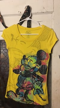 yellow and black Mickey Mouse scoop-neck cap-sleeved shirt Corpus Christi, 78408
