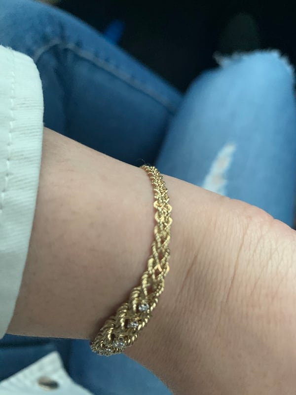 14k Gold 5 Diamond Bracelet 5