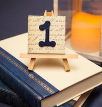 Wedding Table markers/numbers (set of 10).