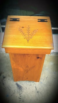Antique Wooden Handcarved Trash Can Fairfax, 22032