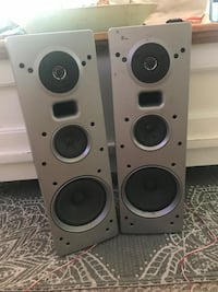 Two gray and black speakers Windsor, 80550