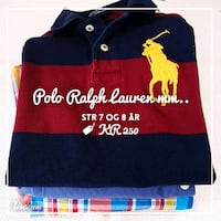 rød og blå Polo Ralph Lauren collared skjorte