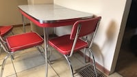 red and silver table with chairs West Lafayette, 47906