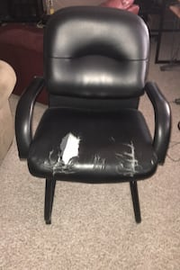 Solid metal chair