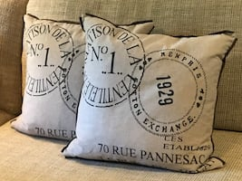 PARIS themed pillows!  Brand new pair of pillows, non-smoking home.