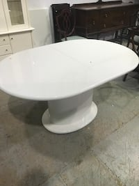 White dining table only table. Delivery available on cost of gas  Brampton