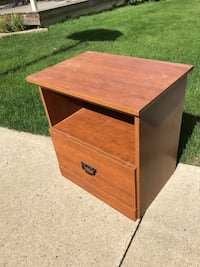 brown wooden 2-drawer chest Sherwood Park, T8A 3P2