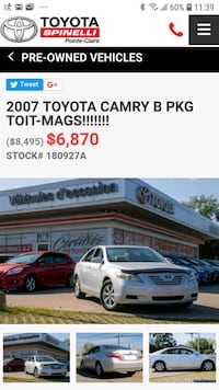 Toyota - Camry - 2007 Pointe-Claire, H9R 5Z7