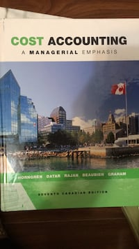 Cost accounting a managerial emphasis Toronto, M2J 3V4