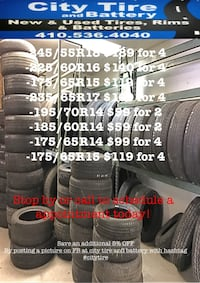 Deals on several tire sizes!