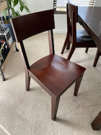 4 Solid Wood Chairs (+free 6 seater dining table) Springfield, 22152