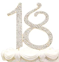 "Crystal's ""18"" Metal Cake Topper"