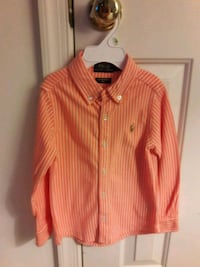 Boy's pink and white striped dress shirt Bowie, 20716