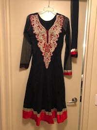women's black and red long-sleeved dress Yonkers, 10701