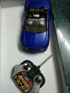 blue rc convertible toy