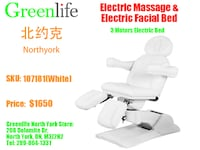 Electric Massage table/Facial/Tattoo/EyeLash bed,from $699! 多伦多